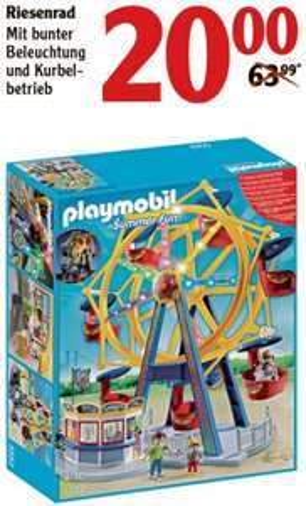 [GLOBUS FORCHHEIM] Playmobil Riesenrad 5552 für 20,00€