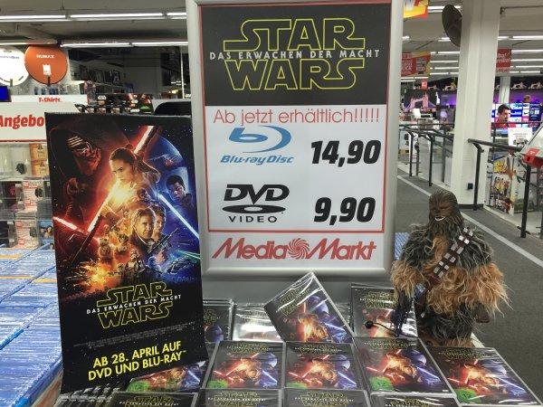 Lokal Media Markt Herzogenrath Star Wars das Erwachen der Macht DVD 9,90 jetzt schon erhältlich