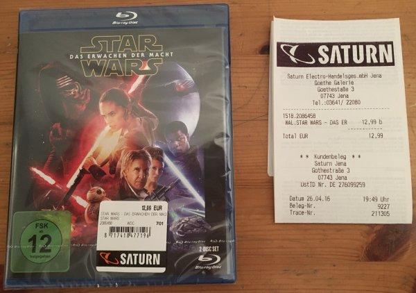 [Lokal Saturn Jena] Star Wars 7 Blu-Ray 12,99 €