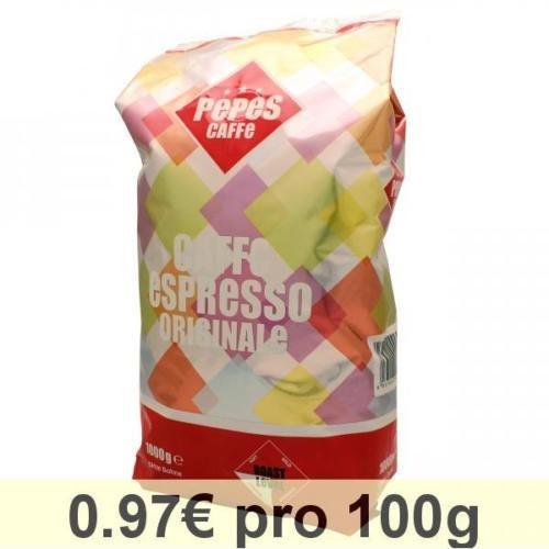 (Amazon) (Prime) Pepes Caffè Espresso Originale, 2x1 kg ganze Bohne