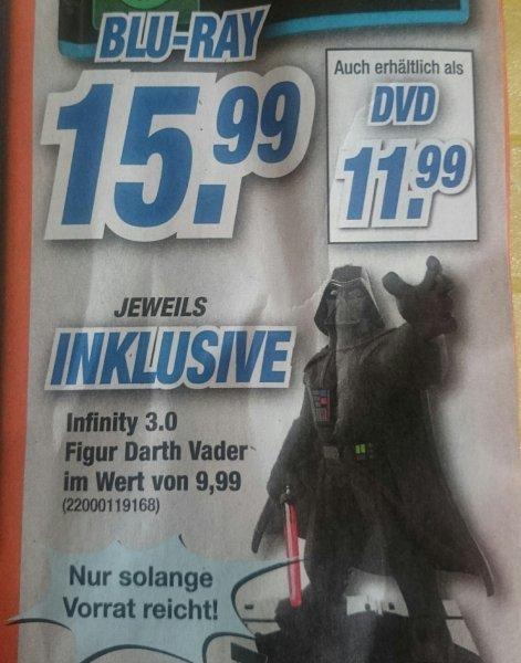 Star Wars (Blu-Ray oder DVD) inkl. Infinity Darth Vader