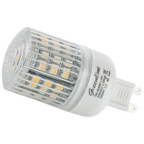 [Amazon] 3,5 W G9 LEDs warmweiß (3000K) von Greenline für je 1 Euro -> Erhöhung auf 1,95 Euro + 3,95 Versand *NICHT* aus China!!