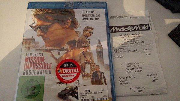 [MediaMarkt Frankfurt Borsigallee] Mission Impossible 5 BluRay