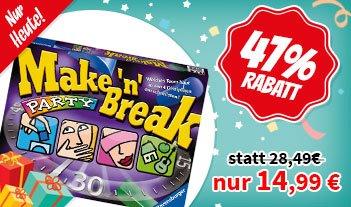 [Spiele-Offensive] Make ´n´ Break Party | NUR HEUTE | Brettspiel | Gesellschaftsspiel