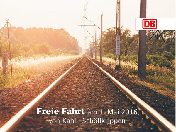 [lokal Kahlgrund] Kostenlos mit der Westfrankenbahn fahren am 1. Mai zwischen zwischen Kahl und Schöllkrippen