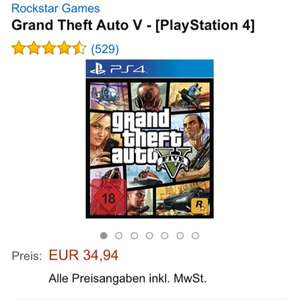 [Amazon] GTA 5 für PS4