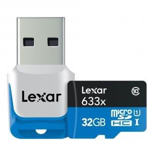 Lexar microSDHC 32GB USB 3.0  UHS-I [Redcoon] 12,99 € versandkostenfrei