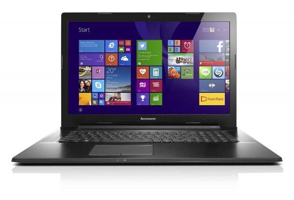Lenovo G70-80 43,9 cm (17,3 Zoll HD+) Multimedia Notebook (Intel Core i3-4005U, 1,7GHz, 4GB RAM, 128GB SSD, Intel HD Grafik, DVD-Brenner, Windows 8.1) schwarz