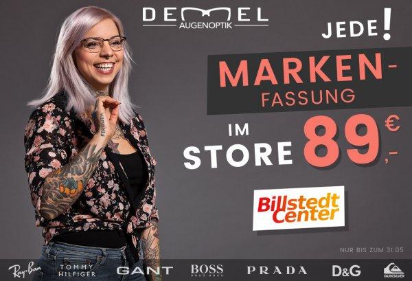 [HH Billstedt] Alle Marken-Brillenfassungen für 89€ *Optiker Demel*