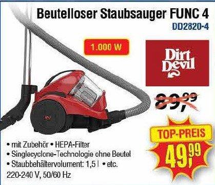 [Center Shop ab 02.05.] Beutelloser Staubsauger Dirt Devil FUNC 4 für 49,99 € (Idealo ab 74,95 €)