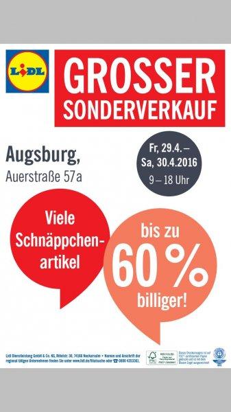 Lidl Schnäppchenverkauf in Augsbug