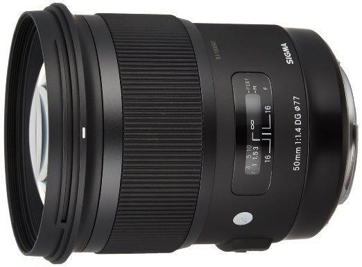 [Amazon WHD] Sigma 50mm F1,4 DG HSM Objektiv (Filtergewinde 77mm) für Canon für 411,27 €