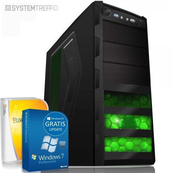Komplett-PC Quad Core 4 x 3,8GHz 10 AMD 128GB SSD Rechner 16GB RAM WIN7->10