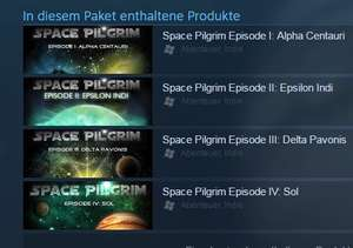 [Steam] Space Pilgrim Saga (I bis IV) 0,60€