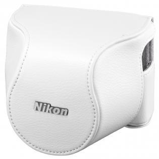 Nikon CB-N2210SA Weiss, Leder-Bereitschaftstasche für J4+10-30mm