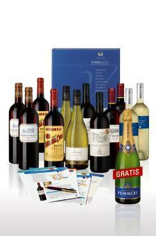 12 Flaschen Wein + 1 Champagner Pommery @Hawesko +Qipu
