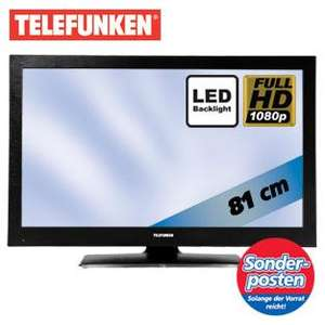 Telefunken T32LED970 CT 100 - 32 Zoll LED TV Full HD 100Hz für 299 EUR
