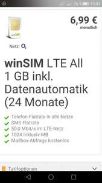 Handytarif / Allnet Flat / 1Gb LTE 50Mbit / O2 Netz