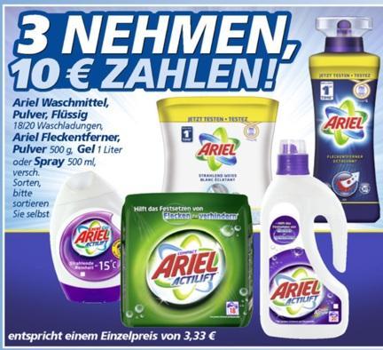 [GETESTET!] ARIEL Actilift Waschmittel (flüssig, Pulver oder Gel) für 1,33 Euro bei REAL