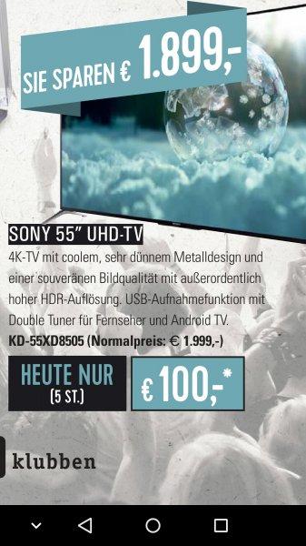 SonyKD-55XD8505 für 100€ anstatt 1999€ bei Neueröffnung HIFI Klubben Hamburg!