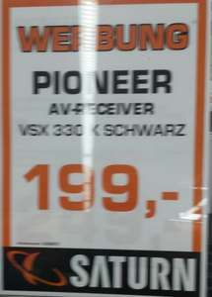 AV Receiver Pioneer VSX-330 für 199€ bei Saturn Habenhausen