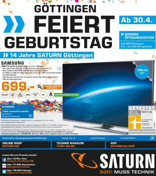 Saturn Göttingen - Samsung UE55JU6450 4K LED-TV für 699€