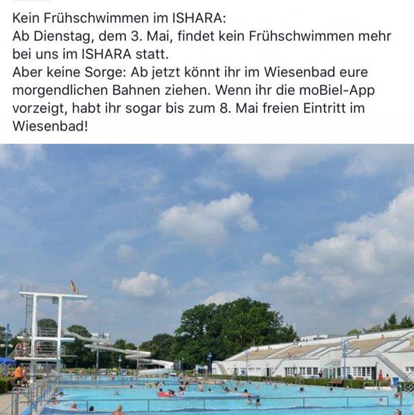 Kostenlos ins Wiesenbad Bielefeld bis zum 08.05.16 mit der App von moBiel