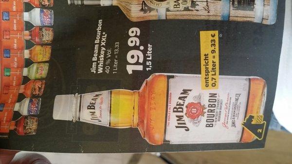 [Netto mit Hund] Jim Beam Bourbon Whiskey 1.5L für 19.99€ = 9.33€/0.7L!! (33% unter Idealo)