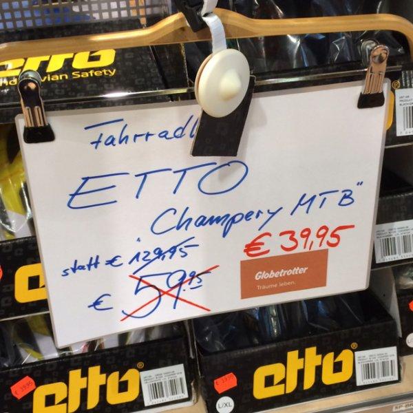 [Lokal HH] Globetrotter Barmbek - Etto Champery MTB Fahrradhelm für 39,95€