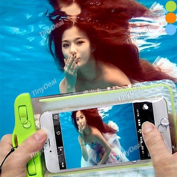 Tinydeal - 6 Zoll Fluorescent Transparent Unterwasser Tasche für iPhone Samsung Smartphone MP3 MP4