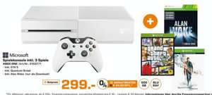 [Lokal Saturnmärkte Bremen] Mi­cro­soft XBOX One 500GB weiß Bund­le, Quan­tum Break + Alan Wake (Download) + GTA 5 für 299,-€