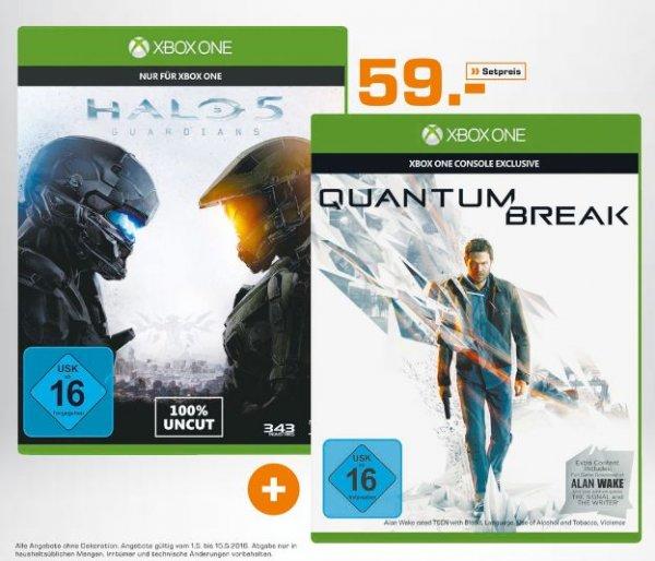[Lokal Saturn Dortmund,Witten,Lünen] Halo 5: Guardians (Xbox One) + Quantum Break inkl. Alan Wake (DLC) (Xbox One) für 59,-€