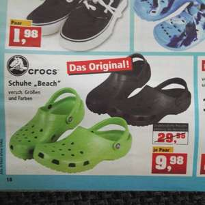 "Original Crocs® ""Beach"" bei Thomas Philipps Sonderposten nur 9,98€!"