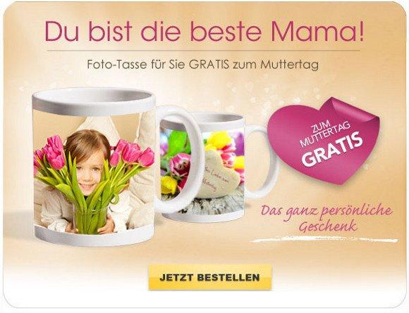 Tasse mit Bild zum Muttertag nur Versandkosten für 4,99 bei myprinting (nur Neukunden)