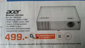 [LOKAL Saturn - Berlin/Potsdam] Acer Full HD - 3D Beamer H6510BD
