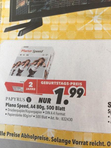 Druckerpapier 500 Blatt Plano Speed 1,99€ medimax Alzenau