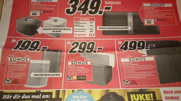 [Mediamarkt Bamberg/Hallstadt] Sonos 1 - 199 €, Sonos 3 - 299 €, Sonos 5 Gen.2 - 499 €