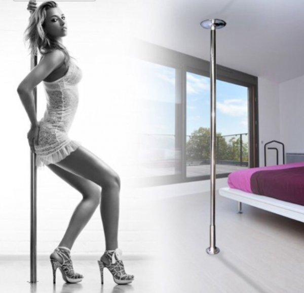 Amzdeal Pole Dance Edelstahl Strip Stange