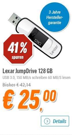 [Notebooksbilliger] Lexar 128GB JumpDrive S75 USB 3.0 Flash Drive Memory Stick Speicherstick  für 27,99€