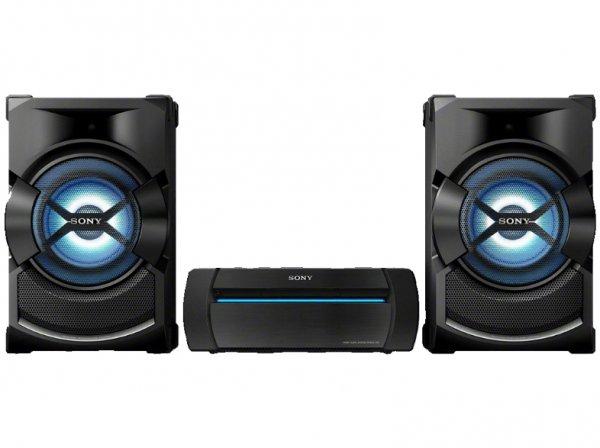 SONY SHAKE-X1 HiFi Kompaktanlage (1200 Watt, Multicolor-Partybeleuchtung, Bluetooth, NFC, CD/DVD, USB, FM/AM-Radio, USB-Recording, Mic-In für Karaoke, SongPal, DSEE etc.) für 477,00 € statt 629,99 €