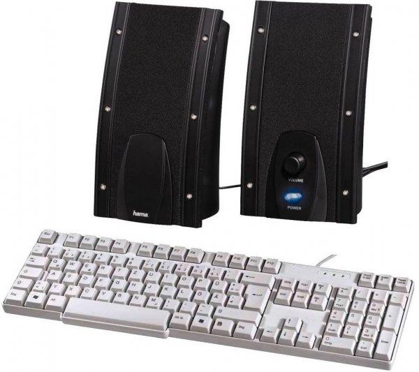[Ebay-Conrad] Hama USB-PC-Lautsprecher Negra + Standard-Tastatur KE-200 für nur 9,99€ inkl. Versand