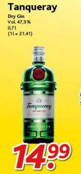 [Dursty] Tanqueray Gin 0,7 l für 14,99