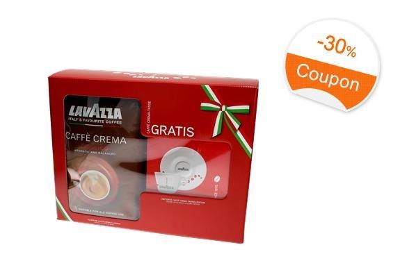 8 Kg Lavazza CaffèCrema Classico Ganze Bohne + 8 Espresso-Tassen für 7,29€/Kilo-Tasse