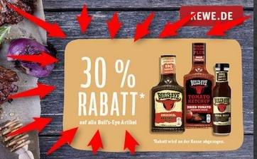 Bullseye verschiedene Sorten bei Rewe 30% billiger und bei Kauf von 2 Flaschen zusätzlich 1€ Rabatt / Lokal?