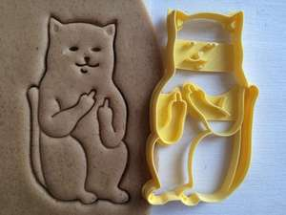 Cookie Cutter **Fuck Cat** für nur 9,90€ per Stück