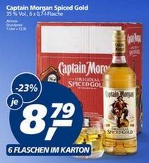 Captain Morgan 0,7l Flasche für je 8,79€ ab 6 Flaschen bei Real
