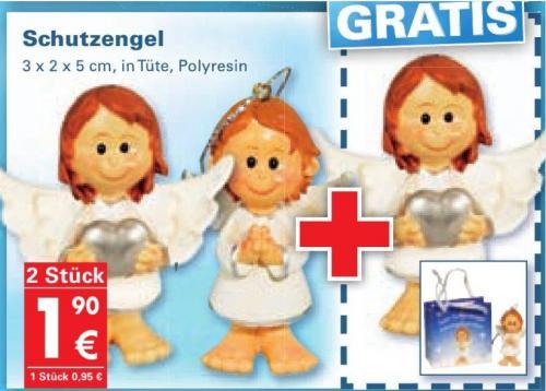 3 Schutzengel in Geschenk-Tüten @Mäc Geiz