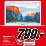 Apple MacBook Air 33.8 cm (13.3 Zoll) (MJVE2D/A) Intel Core i5 4 GB Intel HD Graphics 6000 128GB Flash Speicher [LOKAL] Media Markt Gütersloh