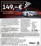 VW Golf GTI Performance 149€ ohne Sonderzahlung