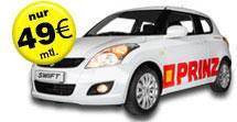 Leasing Suzuki Swift (Alus, Klima, Nebel, CD, met.) mit Werbung für 49€ / Monat